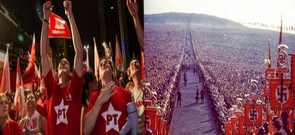 Resultado de imagem para pt e partido nazista semelhanças