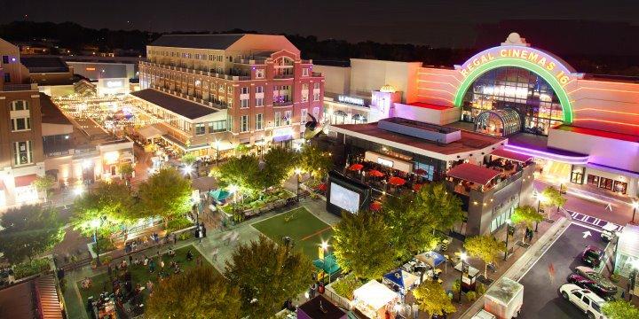 Atlantic Station à noite