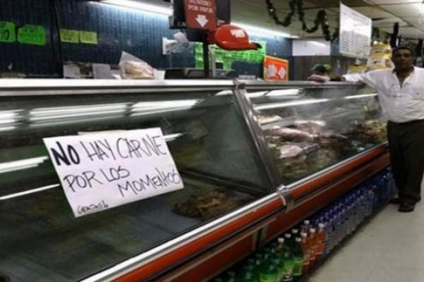 Resultado de imagen para escasez de carne y leche en venezuela