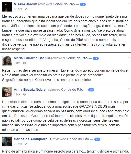 Exemplo dos comentários